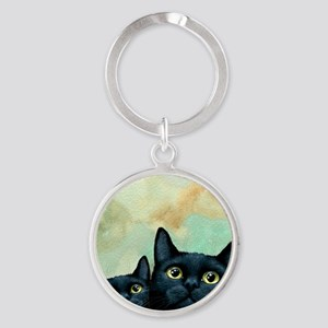 Cat 607 black Cats Keychains