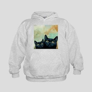 Cat 607 black Cats Hoodie