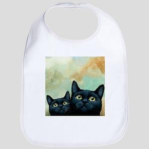 Cat 607 black Cats Bib