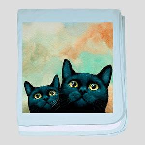 Cat 607 black Cats baby blanket