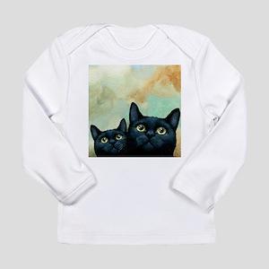 Cat 607 black Cats Long Sleeve T-Shirt