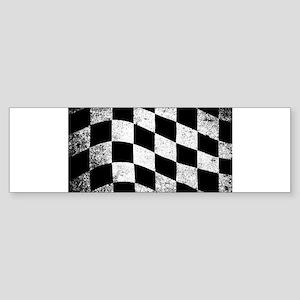 Dirty Chequered Flag Bumper Sticker