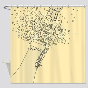 Popping the Cork Shower Curtain