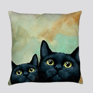 Cat 607 black Cats Everyday Pillow