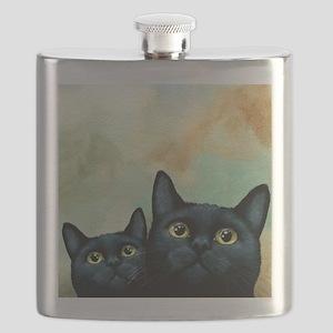 Cat 607 black Cats Flask
