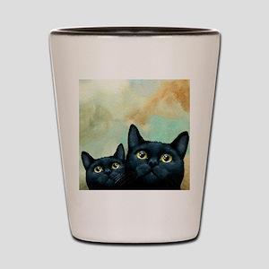 Cat 607 black Cats Shot Glass