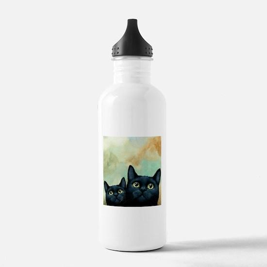 Cat 607 black Cats Water Bottle