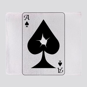 Playing Card Bullet Hole Throw Blanket