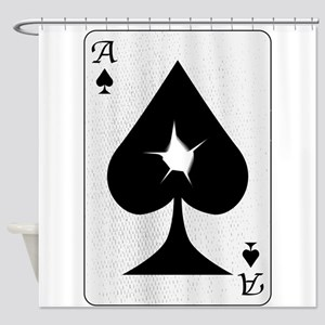 Playing Card Bullet Hole Shower Curtain
