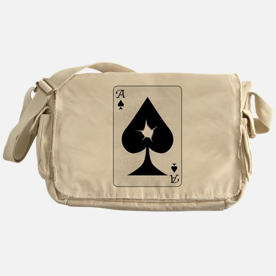 Playing Card Bullet Hole Messenger Bag