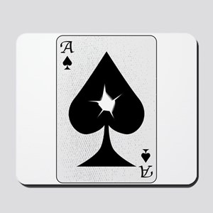 Playing Card Bullet Hole Mousepad