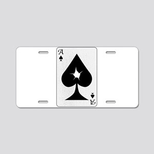 Playing Card Bullet Hole Aluminum License Plate