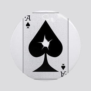 Playing Card Bullet Hole Round Ornament