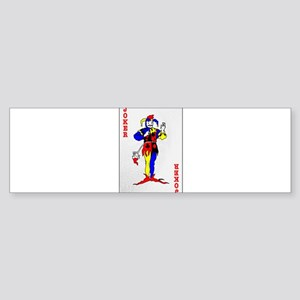 The Joker Card Bumper Sticker