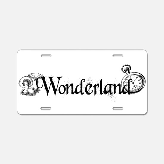 Wonderland Aluminum License Plate