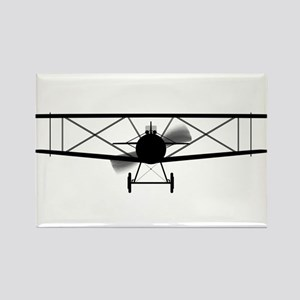 Biplane Silhouette Magnets