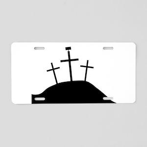 The Cross of Jesus Aluminum License Plate