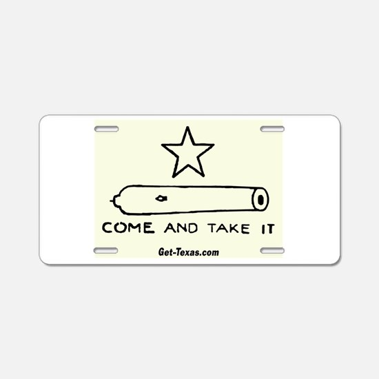Texas Come and Take IT Flag Aluminum License Plate