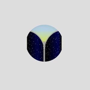 Sky Zipper Mini Button