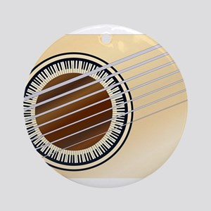 Guitar Piano Soundhole Round Ornament