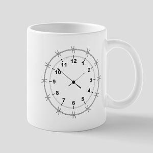 Barbed Wire Clock Mugs