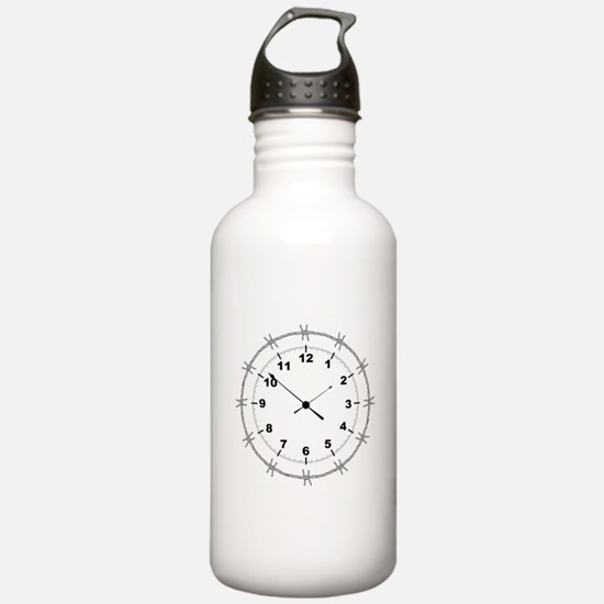 Barbed Wire Clock Water Bottle
