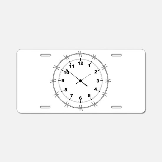 Barbed Wire Clock Aluminum License Plate