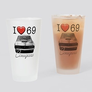 69 Cougar Drinking Glass