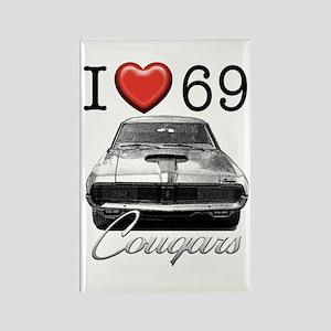 69 Cougar Rectangle Magnet