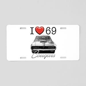 69 Cougar Aluminum License Plate