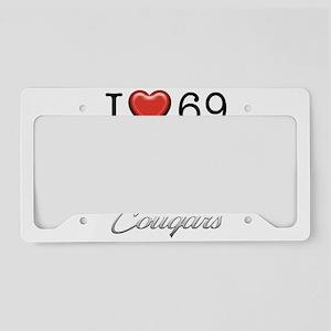 69 Cougar License Plate Holder