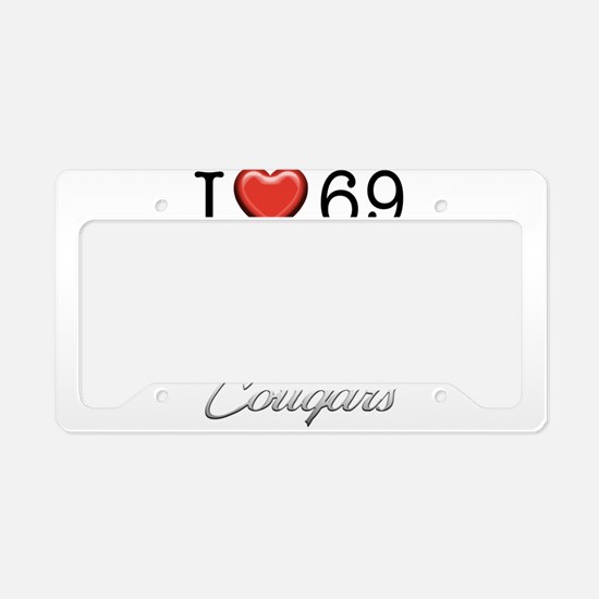 69 Cougar License Plate Holder
