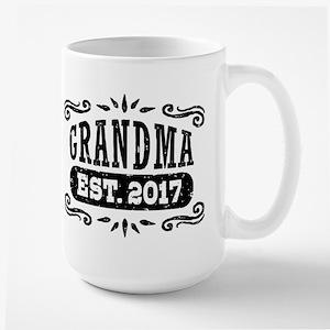 Grandma Est. 2017 Large Mug