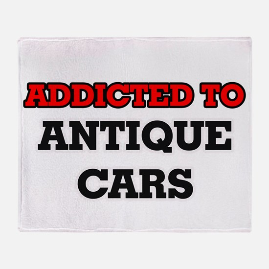 Addicted to Antique Cars Throw Blanket