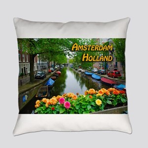 Amsterdam Holland Travel Everyday Pillow