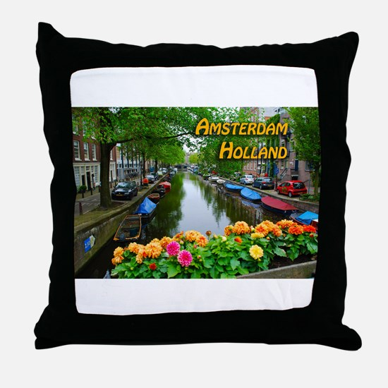 Amsterdam Holland Travel Throw Pillow