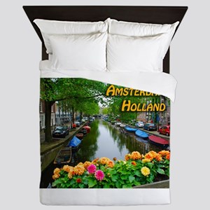 Amsterdam Holland Travel Queen Duvet