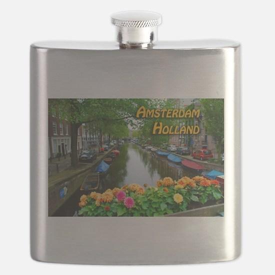 Amsterdam Holland Travel Flask