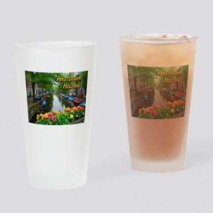 Amsterdam Holland Travel Drinking Glass