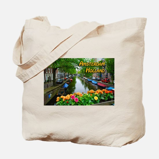 Amsterdam Holland Travel Tote Bag