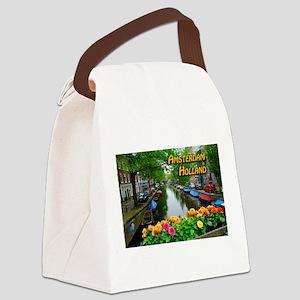 Amsterdam Holland Travel Canvas Lunch Bag
