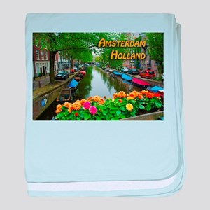 Amsterdam Holland Travel baby blanket