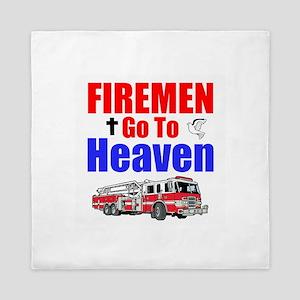 Firemen go to Heaven Queen Duvet