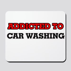 Addicted to Car Washing Mousepad