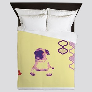 Pug Life in Purple Queen Duvet