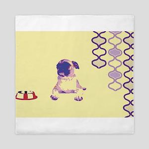 Pug Life in Purple Queen Duvet