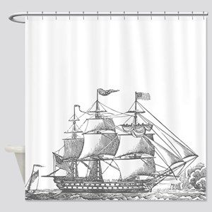 Nautical Ship Shower Curtain