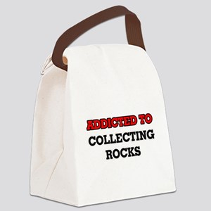 Addicted to Collecting Rocks Canvas Lunch Bag