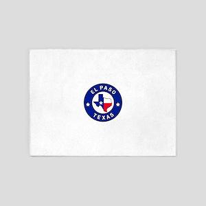 El Paso Texas 5'x7'Area Rug