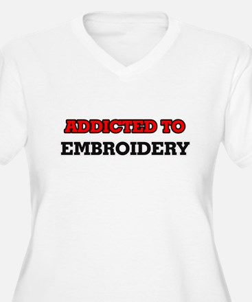 Addicted to Embroidery Plus Size T-Shirt